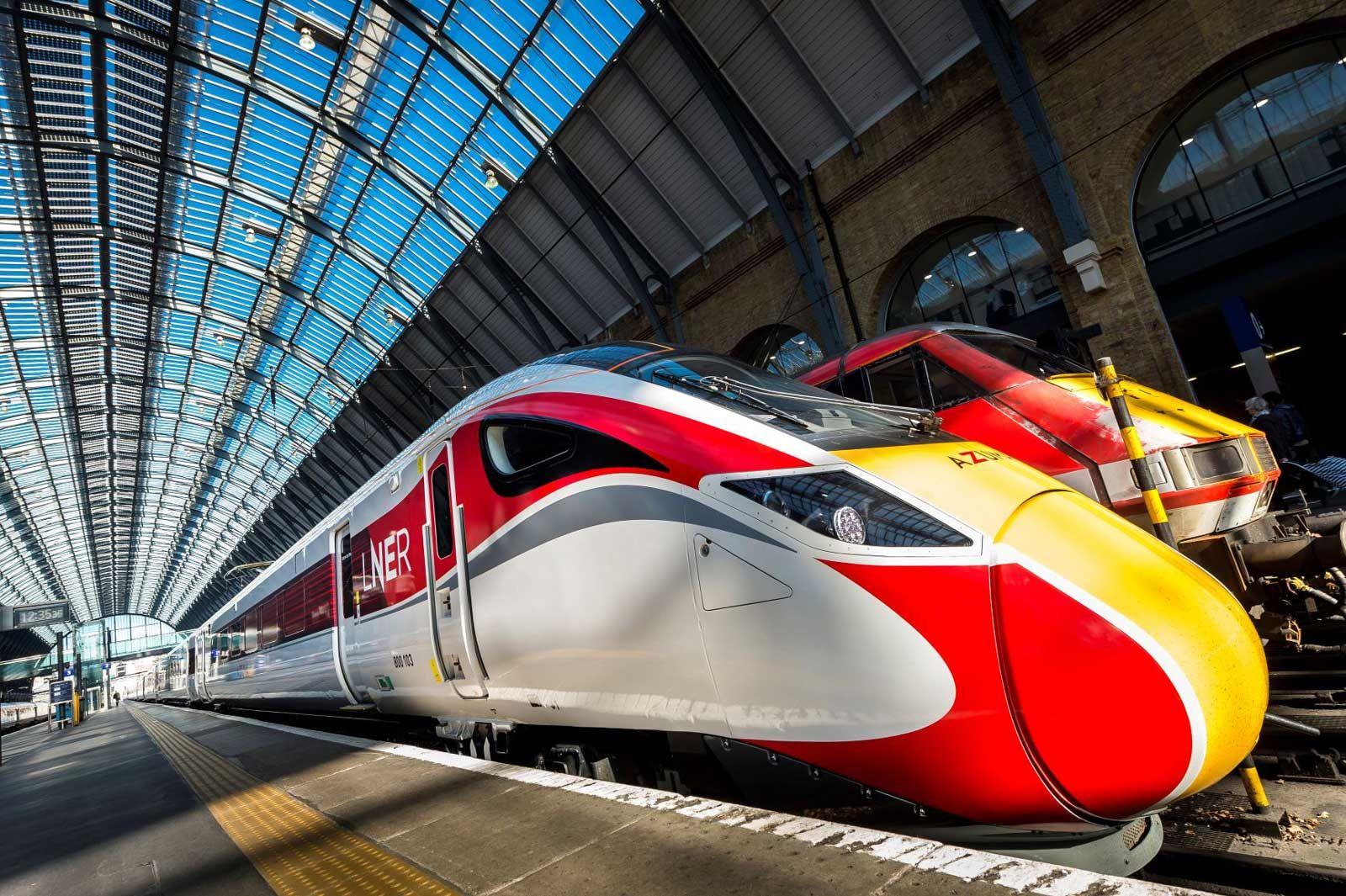 Image showing LNER trains at London Kings Cross