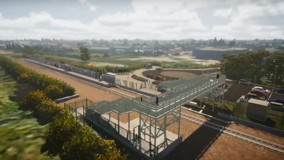 Image showing artists impression of the new railway station at Soham
