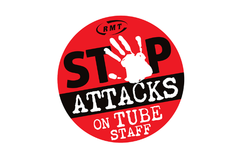Image showing RMT tube assault campaign logo