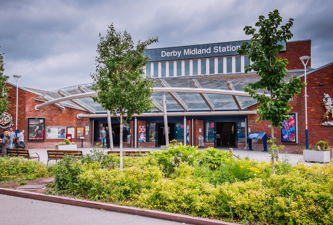 Image showing front of Derby Midland station