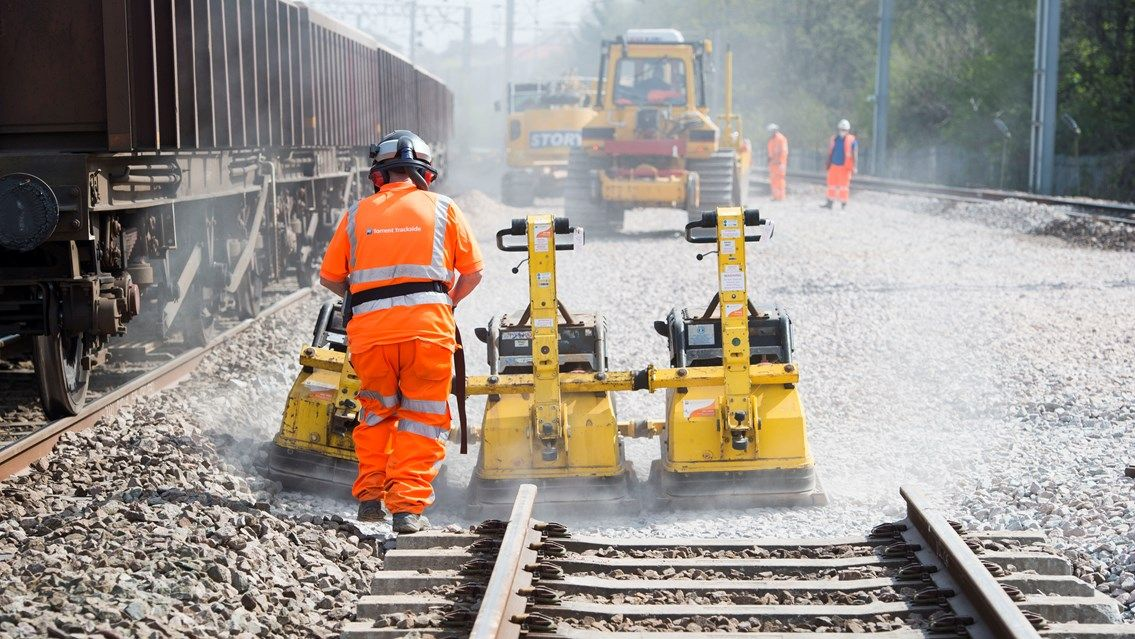 Image showing Network Rail engineering work