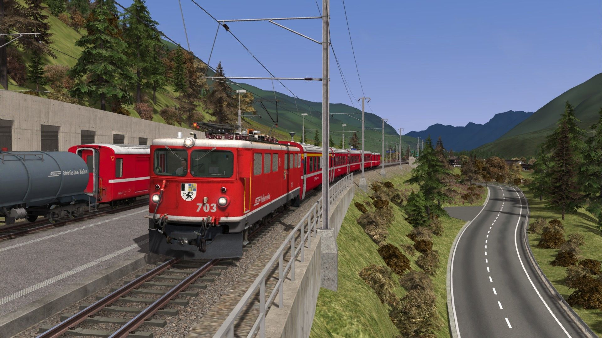 Train Simulator Engadin Linie: Pontresina to Scuol-Tarasp