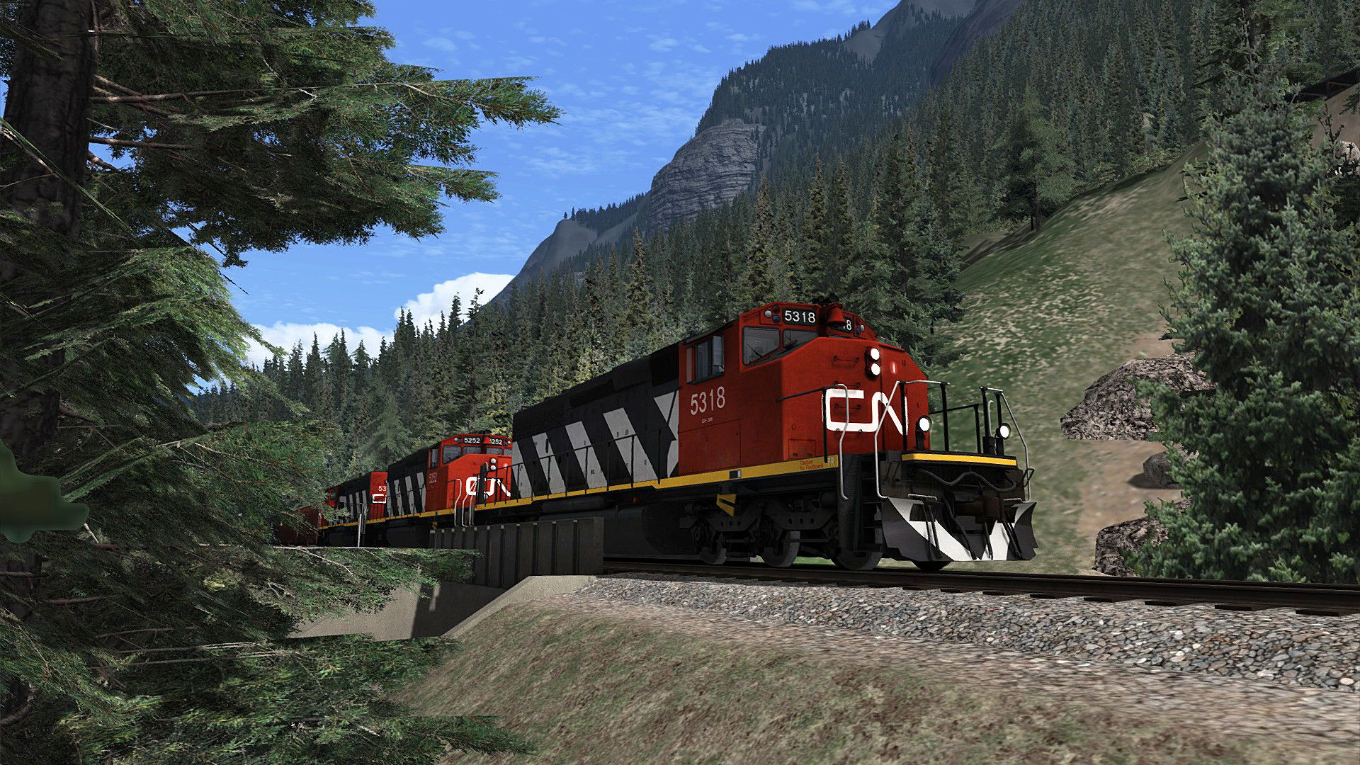 Train Simulator Yellowhead Pass  Jasper to Valemount