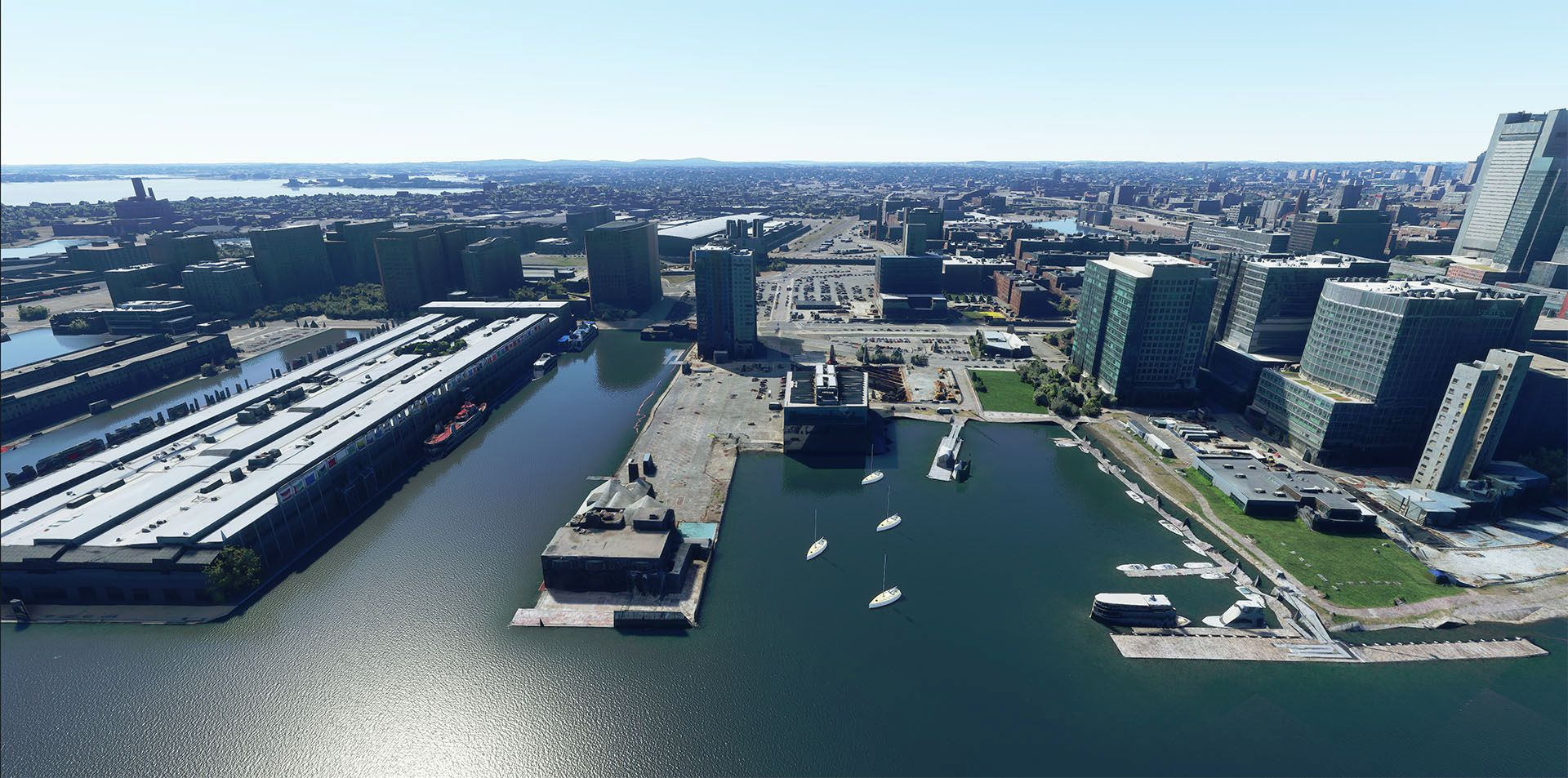MSFS Boston Harbours Photogrammetry
