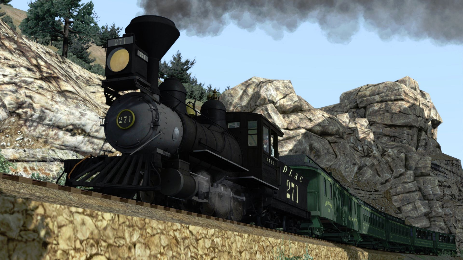 Train Simulator Clear Creek Old Timer Rolling Stock Pack