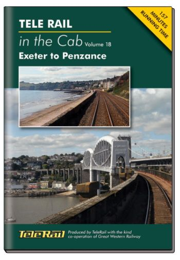 Clickable image taking you to the Telerail in the Cab - Volume 18 - Exeter to Penzance Driver's Eye View