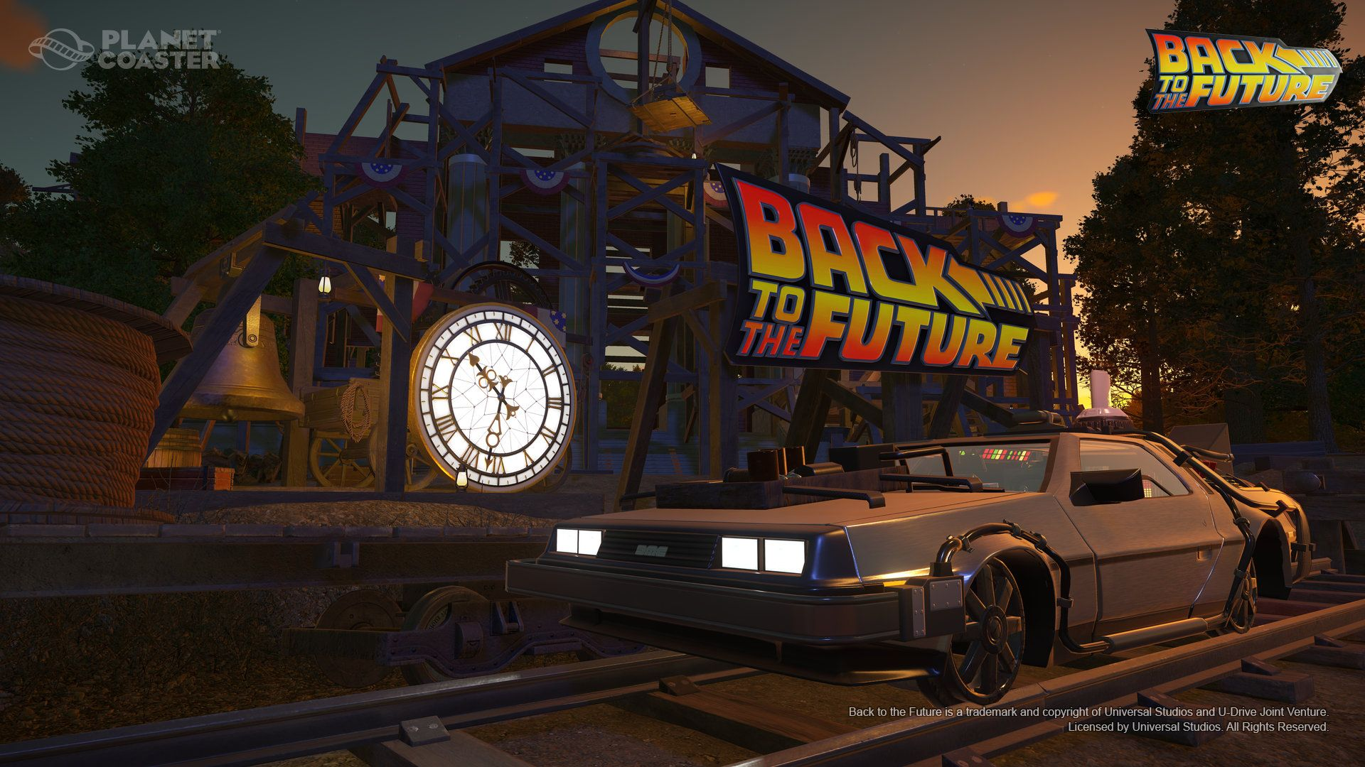 "Planet Coaster - Back to the Futureâ""¢ Time Machine Construction Kit"
