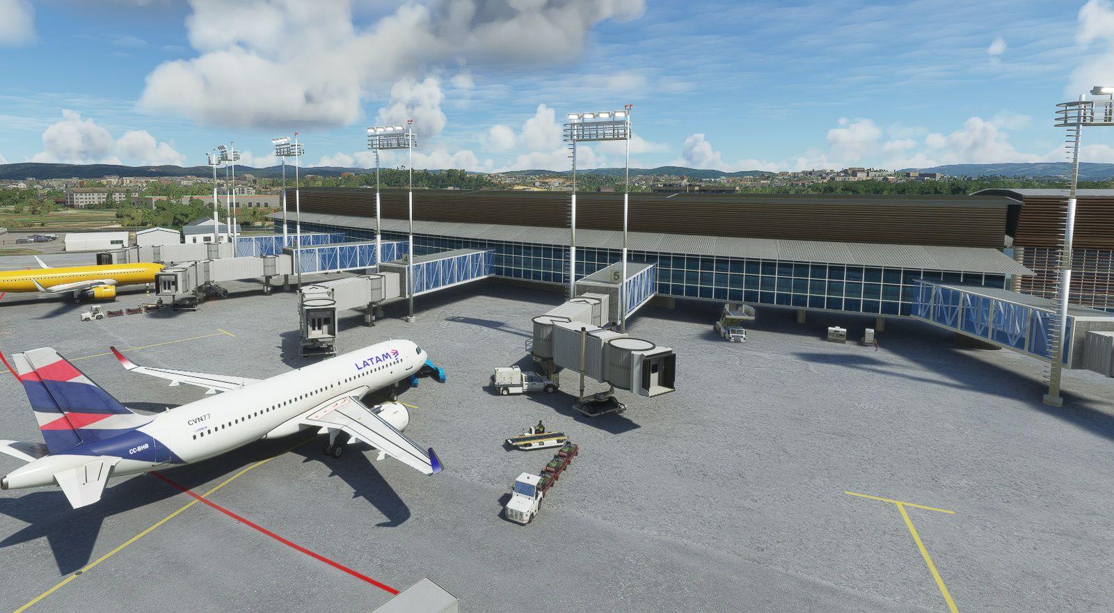 MSFS SCIE Carriel Sur International Airport