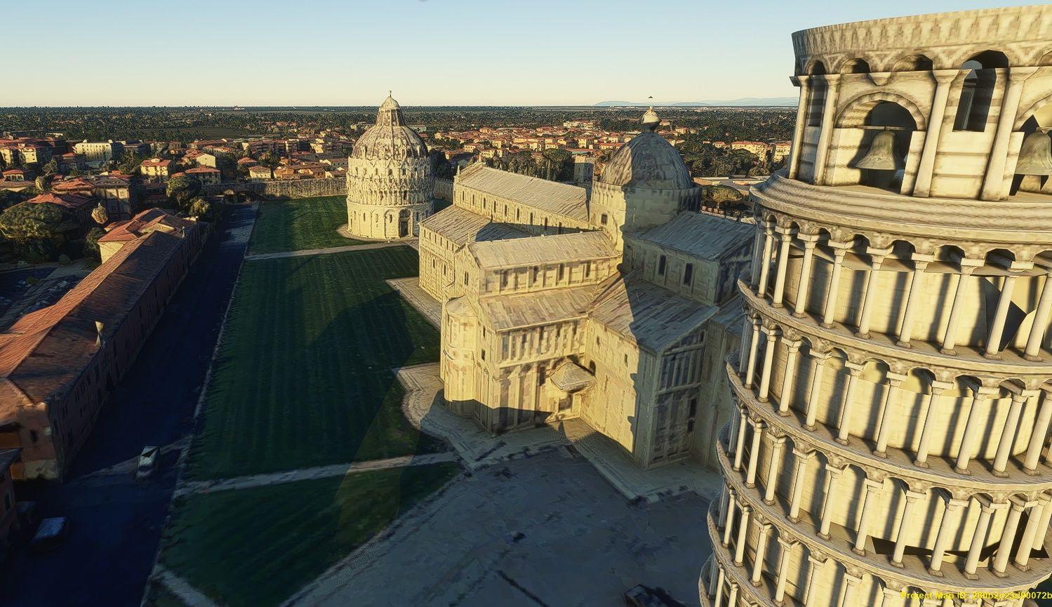 MSFS Pisa Photogrammetry
