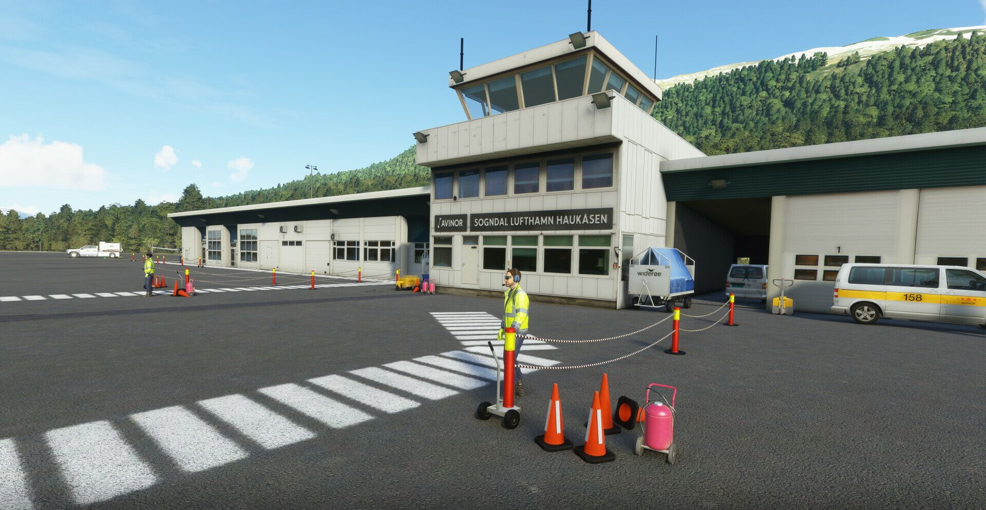 MSFS ENSG Sogndal Haukåsen Airport