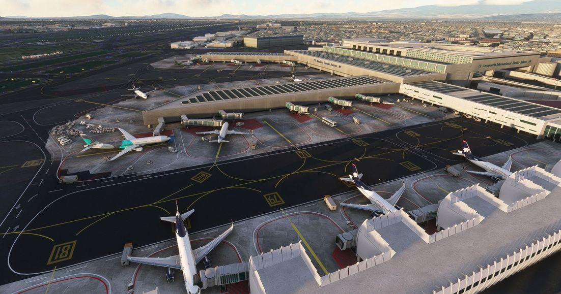 MSFS MMMX Mexico City International Airport