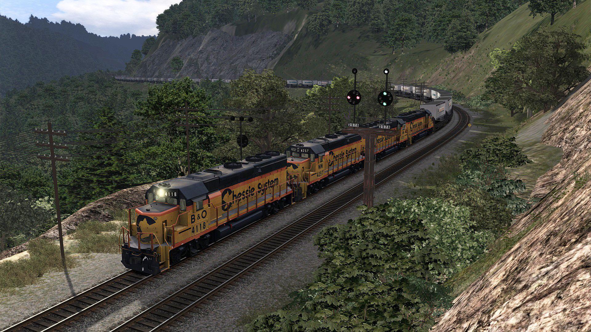 Train Simulator B&O Mountain Subdivision