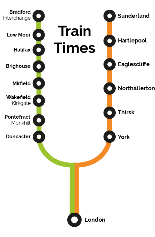 Image showing the Grand Central route map circa 2020.