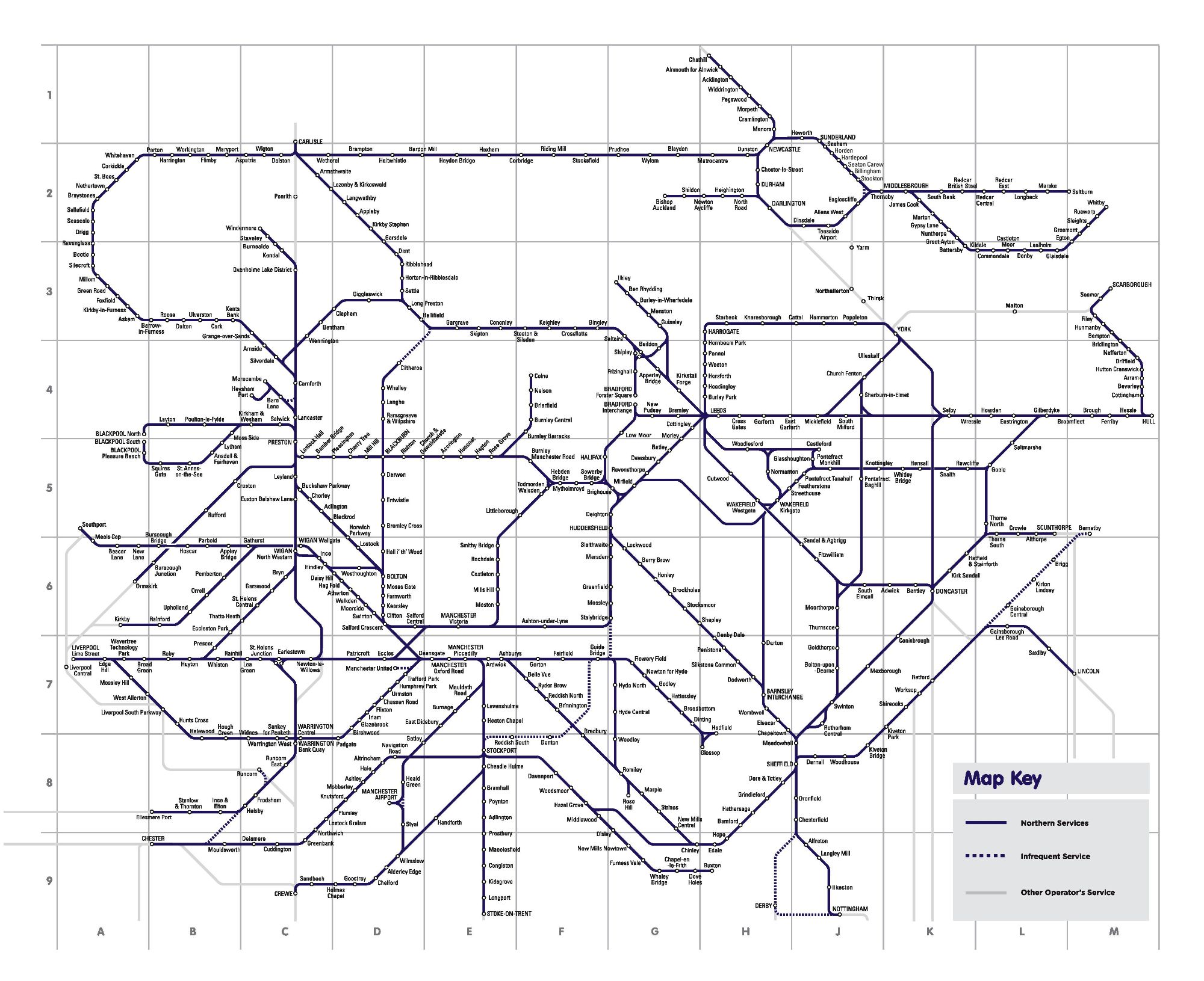 Image showing the Northern Railway route map cira 2021.