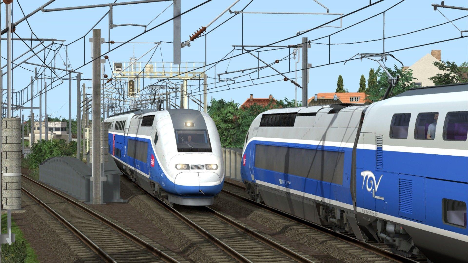 Train Simulator Bahnstrecke Strasbourg to Karlsruhe