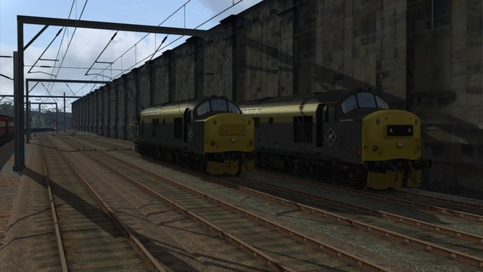Image showing screenshot of the free Dutch repaint of the Class 37 locomotive included with the Edinburgh-Glasgow Route Add-On DLC