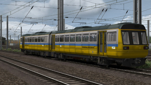 Image showing screenshot of a free repaint of the Class 142 Diesel Multiple Unit Pack DLC available from DPSimulation