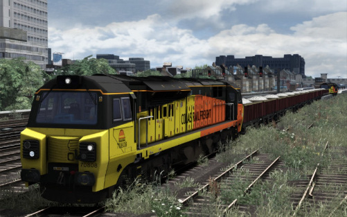 Image showing screenshot of the free Colas Rail repaint of the Class 70 locomotive.
