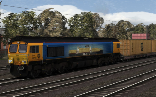 Image showing Class 66 GB Railfreight 66709 'Sorrento'.