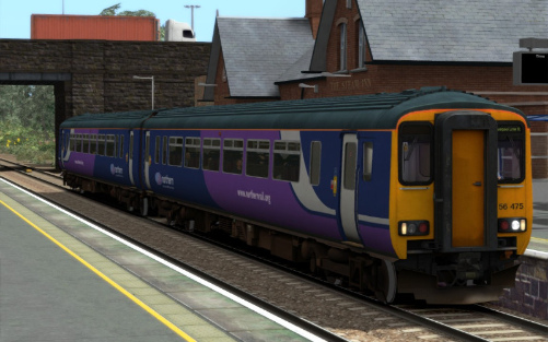 Image showing screenshot of the free Northern Rail repaint of the Class 156