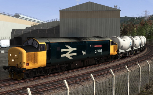 Image showing screenshot of a free repaint of the Class 37 locomotive included with the West Highland Line Extension Route Add-On DLC