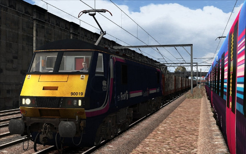 Image showing a free First ScotRail repaint of the GEML Class 90 locomotive