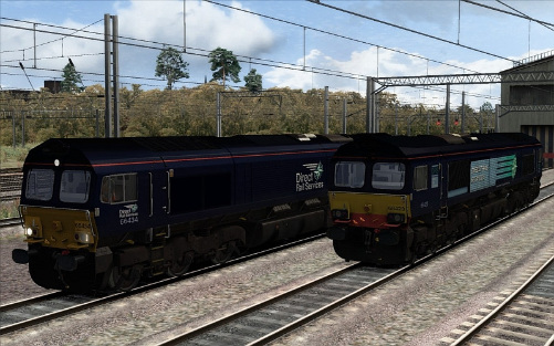 Image showing the Class 66 'DRS' Livery Repaint Pack.