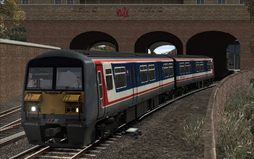 Image showing screenshot of the free Network Southeast repaint of the Class 465 EMU included with the South London Network Route DLC