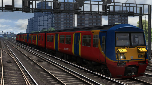 Image showing screenshot of the free South West Trains repaint of the Class 465 EMU included with the South London Network Route DLC