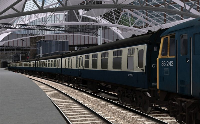 Image showing a free repaint of the coaching stock included with the BR 6MT Clan Class Loco Add-On