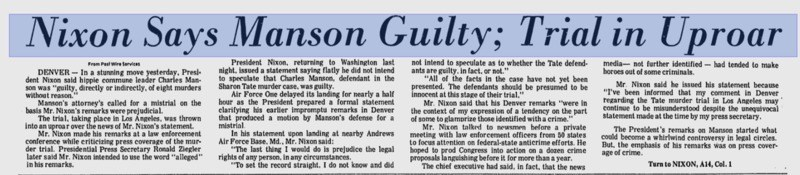 manson guilty