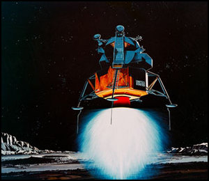 00098 TRW Incorporateds artist concept depicting the Apollo 11 Lunar Modu