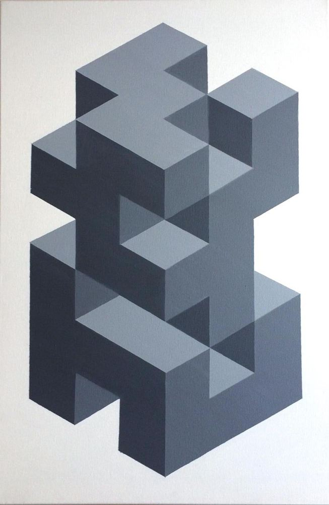 original geometric canvas art painting by dominic joyce 1