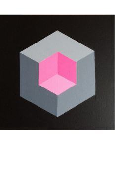 Original Geometric Canvas Paintings 12x12 inches