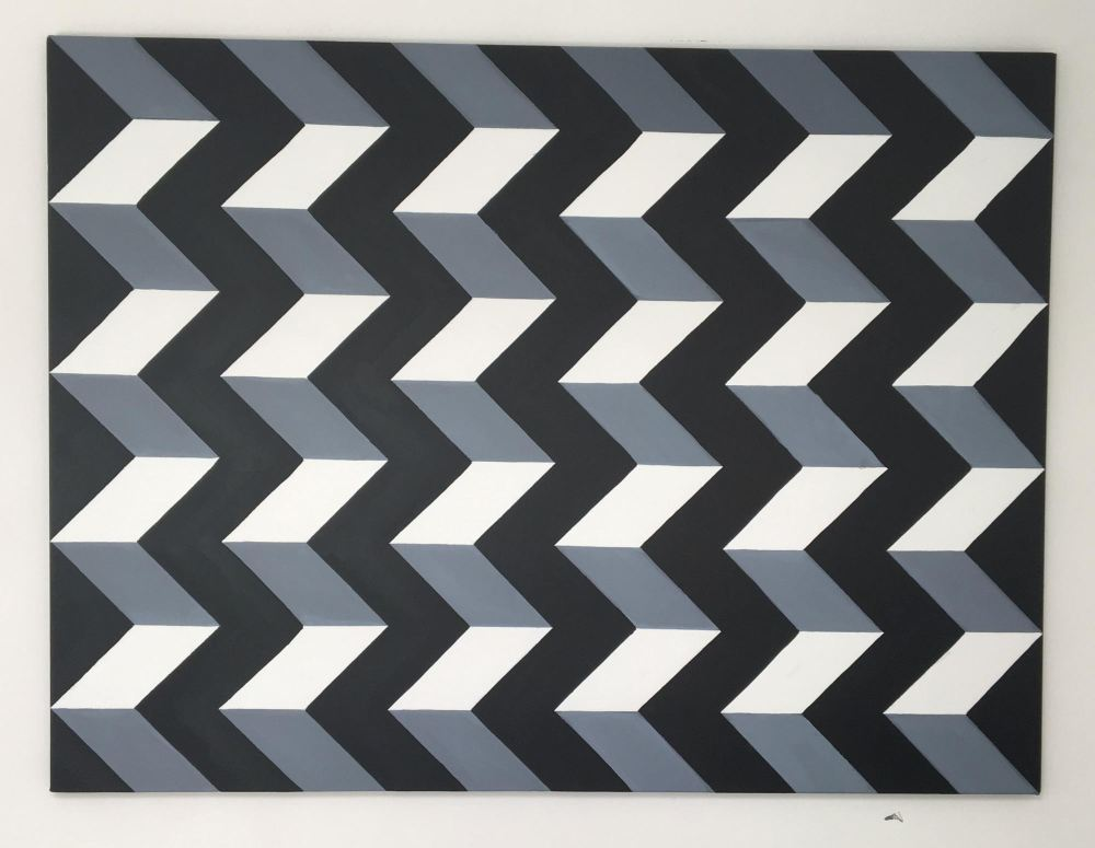 original xl op art geometric canvas painting by dominic joyce 3