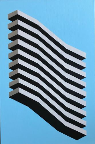 Original Geometric Canvas Painting by Dominic Joyce