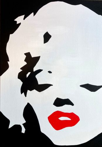 Marilyn Monroe Original Pop Art Canvas Painting
