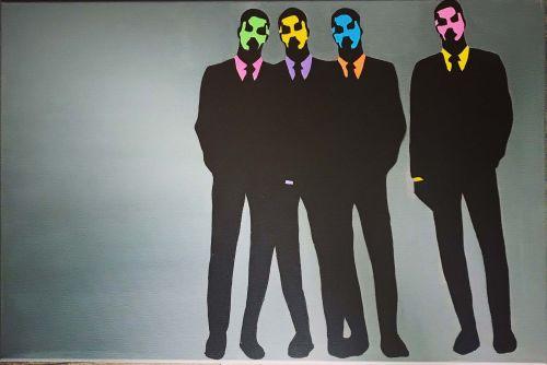 'Boutique-Bots' Original Canvas Painting