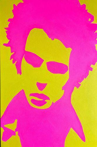 Sid Vicious Sex Pistols Original Pop Art Canvas Painting