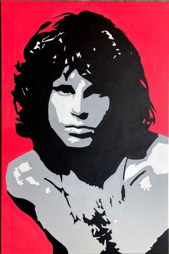 Jim Morrison The Doors Original Pop Art Canvas Painting
