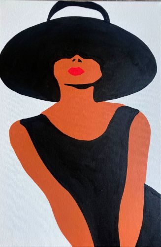 Audrey Hepburn Original Pop Art Canvas Painting