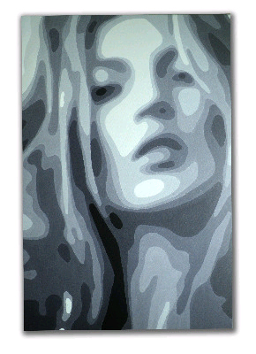 Kate Moss Pop Art painting by Dominic Joyce Original Canvas Painting SOLD