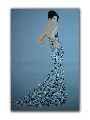 Ballgown Splash Model (Large) by Dominic Joyce Original Canvas Painting