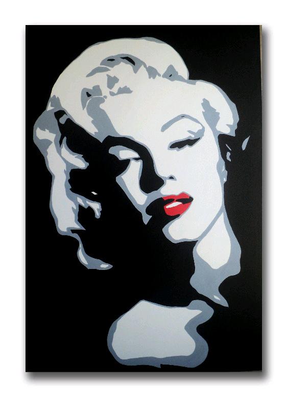 marilyn monroe pop art canvas painting 2013_1