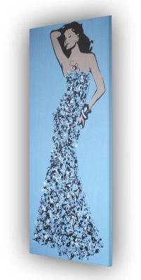 Title: Ball Gown Splash Model #3 by Dominic Joyce