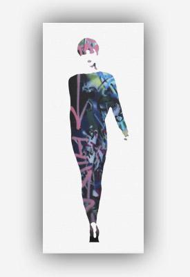 Title: Graffiti Catwalk Model #4 by Dominic Joyce