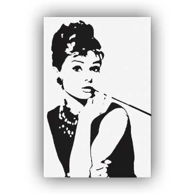 audrey hepburn pop art canvas print 1