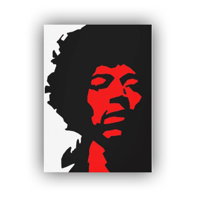 jimi hendrix pop art canvas print 1