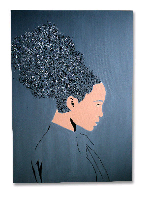 Hair Splash! by Dominic Joyce Original Canvas Painting