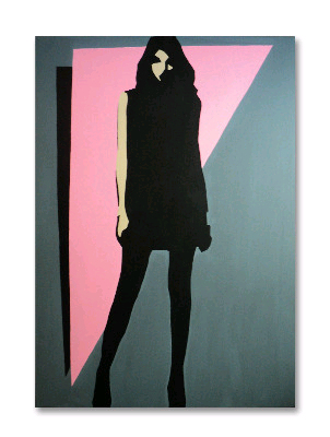 Original 80s Style Fashion Pop Art Canvas Painting by Dominic Joyce ''Tetra Milano''